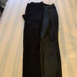 Faux Suede and Black Leggings